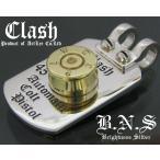 Clash  45ACPプレートペンダント 実弾薬莢 シルバー925&真鍮 ガバメント m1911