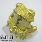 カエルの指輪 ゴールドフロッグリング ブラス 真鍮 (かえる 蛙 アマガエル 動物 爬虫類 両生類)