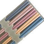 六角箸 彩り六角PBT箸 5P サンライフ 客用箸 4974263316450