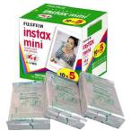【ゆうメール限定 送料無料】フジフィルム チェキ用フィルム instax mini バラ 10枚撮 5パック