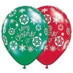 ショッピングNO クリスマスゴム風船 クリスマス総柄 28cm 10個
