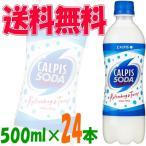 【送料無料(沖縄・離島除く)】カルピスソーダ 500ml 1ケース(24本)