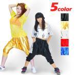 ダンス衣装 ヒップホップ DANCE BA12485 メタリックサルエルパンツ パンツ HIPHOP ステージ衣装