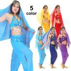 ベリーダンス衣装 HD58592 アラビアン衣装全身4点セット(ブラトップ&パンツタイプ) コスプレ コスチューム ha-a
