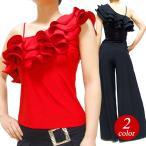 ダンス衣装 トップス フラメンコ 衣装 フラメンコ衣装 フリルトップス ダンスウェア FL7037