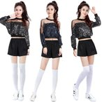 ダンス衣装 セットアップ スパンコール キラキラ ステージ衣装 スパンコール衣装 イベント 発表会  演出服