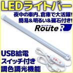 ルートアール USBバーライトコントロールスイッチ付き 電球色 昼光色 RL-BAR30DLC