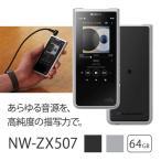 ソニー SONY NW-ZX507 SM ハイレゾウォークマン WALKMAN ZXシリーズ 2019年モデル イヤホンは付属していません シルバー 64GB ハイレゾ対応