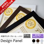 額縁 フレーム UVカット 木製ポスターフレーム デザインパネル A3(420×297mm) アウトレット bt-st