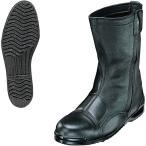 【セール品】高所作業用耐滑靴(半長靴チャック付)耐踏抜ステンレス板入 605-II