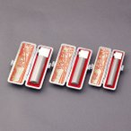 印鑑セット/実印・銀行印・認印3本セット/牛皮付-L-シルバーチタン-16.5-13.5-12mm/上彫り職人の作成印影