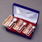 印鑑セット/実印・銀行印・認印3本セット/もみ皮+Sケース付-L-シルバーチタン-16.5-13.5-12mm/上彫り職人の作成印影