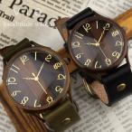 【納期約1週間】ペアウォッチ 刻印可能 刻印無料 ベルト/バンドが選べる 二人のセミオーダーペア腕時計 vie 名入れ ハンドメイド (WB-045L/WB-045M)