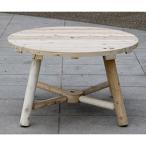 ガーデンテーブル 屋外用 ガーデンファニチャー 天然木 Cedar Looks ラウンドパラソルテーブル NO13A  代引き不可