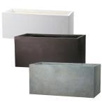 プランター 植木鉢 大型 長方形植木鉢 ファイバープランター ラムダ スリム 80×30×30cm  ガーデニング 園芸用品
