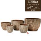 ショッピングプランター プランター 植木鉢  底穴あり ネブラ ラウンド Mサイズ 直径47cm  ガーデニング 園芸用品