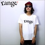 range  プリントTシャツ   RANGE LOGO  白  メンズサイズ