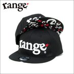 キャップ  range  CAP  original snap back  BLACK