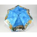 ショッピングマンハッタナーズ Manhattaner'sマンハッタナーズ婦人用雨傘「ポンテ・ベッキオ橋と猫友たち」ブルー ミニ傘 日本製 レディース 女