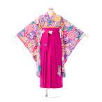 袴レンタル SISTER JENNI 卒業式袴フルセット(ピンク系) 女の子(小学生袴)E-13-078