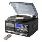 多機能 レコードプレーヤー コンパクト (AM/FMラジオ (ワイドFM対応)) 録音機能 再生機能 USB/SD CD カセットテープ TCD-114(GR) グレー レコードプレーヤー CD
