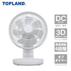 扇風機 3Dデスクファン サーキュレーター ミニ扇風機 パーソナル ファン SF-DKL100 WT ホワイト デスクファン 卓上扇風機 立体首振り DCモーター DC扇風機