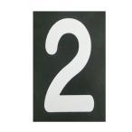 ショッピングBURNER ロードマーキング ナンバーS 2 RM-102 ロードマーキング用シート 数字 Sサイズ 2