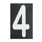 ショッピングBURNER ロードマーキング ナンバーS 4 RM-104 ロードマーキング用シート 数字 Sサイズ 4