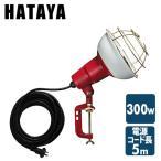 300W 作業灯(投光器) 屋外防雨型 コード5m RCY-305 投光機 照明 ライト 倉庫 キャンプ 作業場