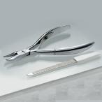 匠の技 ステンレス 爪きり (やすり付き) A-76515 ステンレス 高級 ニッパー ニッパ 匠技 ヤスリ ネイル 爪切り ツメ切り ネイルケア ニッパー型ステンレス