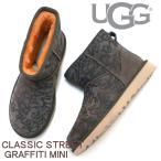 アグ オーストラリア UGG ウィメンズ クラシック ストリート グラフィティ ミニ ショートブーツ 1105432