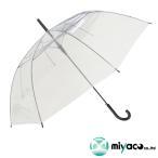 ショッピングビニール ビニール傘 透明 ジャンプ式 8K 60cm(黒) 60本