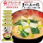 アマノフーズ フリーズドライ 味噌汁 まごころ一杯 小松菜 大根 5食 即席みそ汁 インスタント味噌汁 汁物