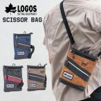 シザーバッグ サコッシュバッグ ショルダーバッグ 2WAY メンズ 男性 カジュアル 軽量 斜めがけ  カラビナ ベルト ファスナー ポケット LOGOS