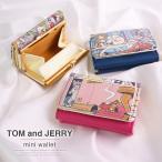 トムとジェリー 財布 3つ折り レディース かわいい 三つ折り 小銭入れ ワーナー・ブラザース シンプル キュート  キャラクター ミニ 小さい コンパクト サイフ