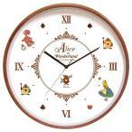 ディズニー ウッドパーツクロック 壁掛け時計 アリス CLOCK82864