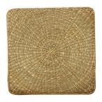 七島い草 クッション 座布団 『シーグラス』 約55×55cm 2枚組 2500820