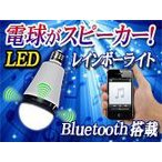 Bluetoothスピーカー搭載【LEDレインボー電球 Speaker Bulb】