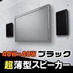 ショッピングスピーカー 壁に掛けられるからお部屋広々!壁掛フラットスピーカー超薄型【Wall Speaker】ブラック