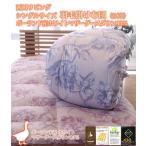 西川リビング シングルサイズ 羽毛掛け布団(日本製)ポーランド産ホワイトマザーグースダウン93%
