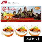カンボジア お土産 カンボジアマンゴープリン3箱セット|プリン・ゼリー 東南アジア カンボジア土産