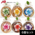 ハワイ お土産 プルメリアキャンドル6個セット|キャンドル・お香 ハワイ 雑貨 ハワイ土産