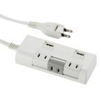 Yahoo!e-プライス電源タップ 3個口 USB充電ポート付き 延長コード 1.5m付き 独立回転式コンセント 00-1252 セール