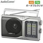 OHM AM FMポータブルラジオ RAD-T208S