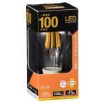 LED電球 フィラメント E26 100W相当 クリア 電球色 全方向 一般電球形 LDA12L C6 06-3464 OHM オーム電機