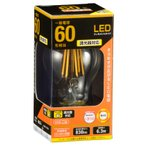 LED電球 フィラメント E26 60W相当 調光器対応 クリア 電球色 全方向 一般電球形 LDA6L/D C6 06-3483 OHM オーム電機