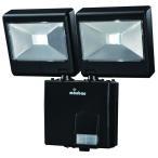 monban LEDセンサーライト 2灯 屋外 ガーデンライト 防犯ライト 人感 乾電池 LS-B224D-K 07-8282 オーム電機