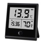 ショッピングインフルエンザ オーム電機 時計付温湿度計 TEM-210-K 08-0092
