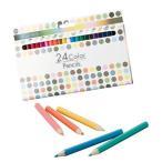24色カラーペンシル  940-10 色鉛筆24色セット 粗品・記念品 (17s0645-143)