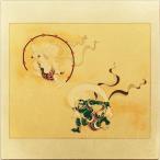 マウスパッド風神雷神 ゴールド  (2V-719)  飾り板にもなる和のマウスパット (内祝)(御祝)(お返し)(各種ギフト対応)